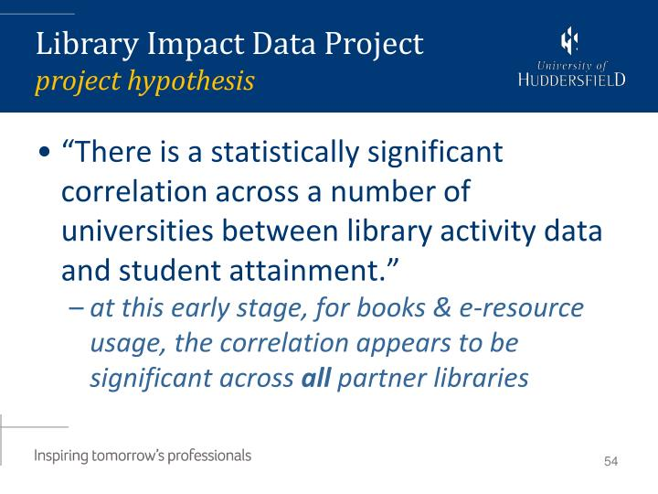 Library Impact Data Project