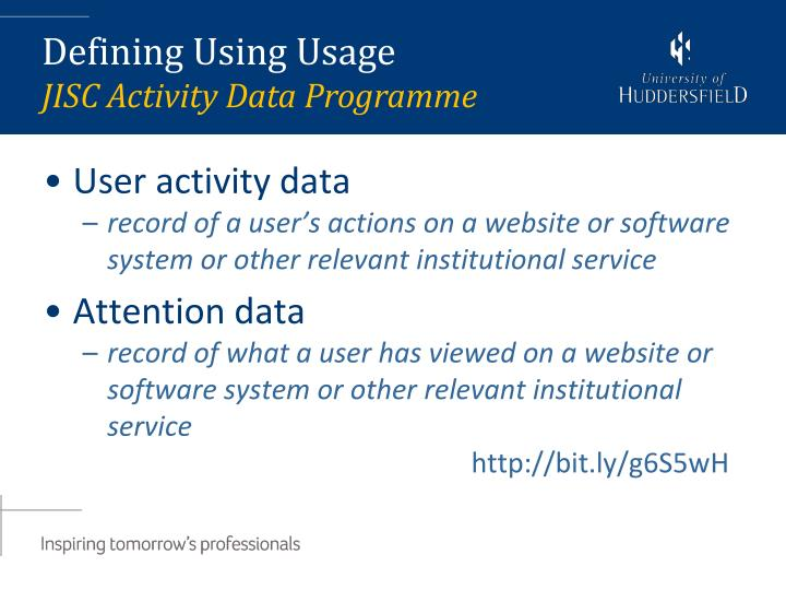 User activity data