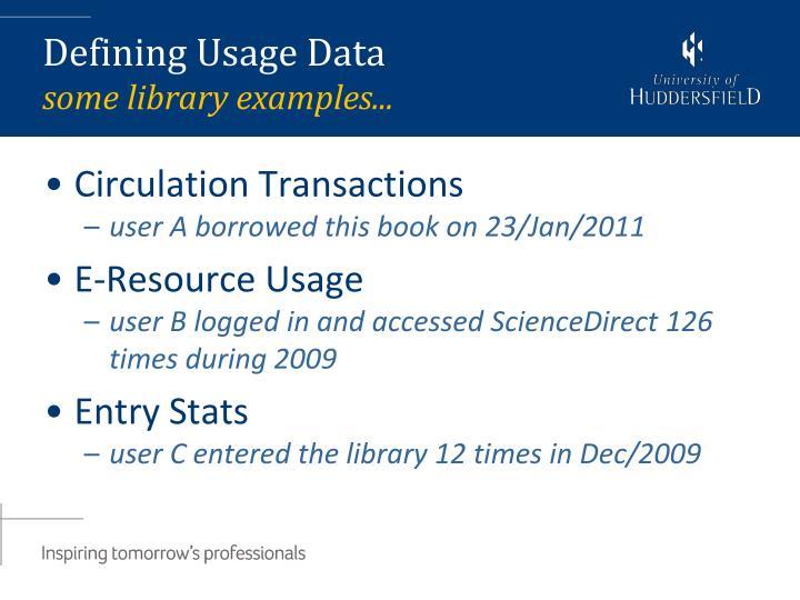Circulation Transactions