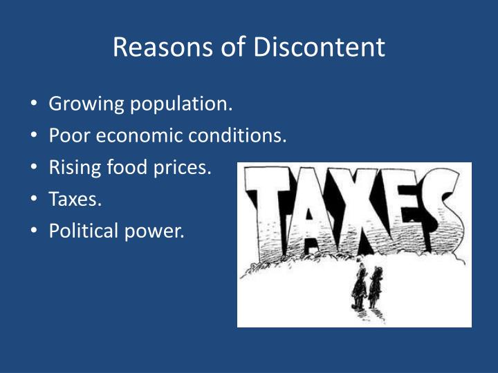Reasons of Discontent