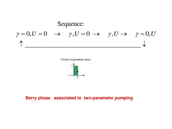 Berry phase   associated to  two-parameter pumping