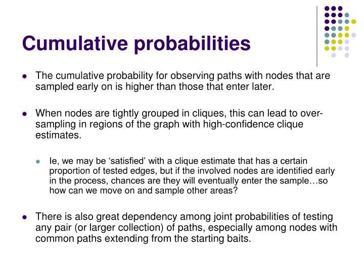 Cumulative probabilities