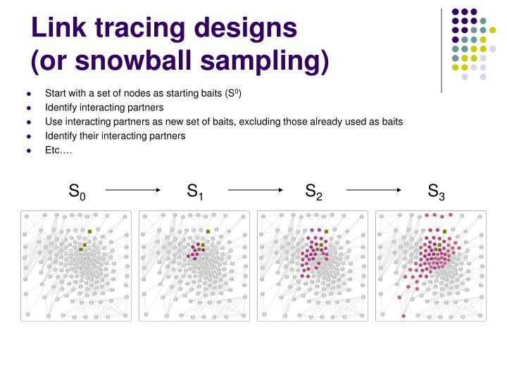 Link tracing designs