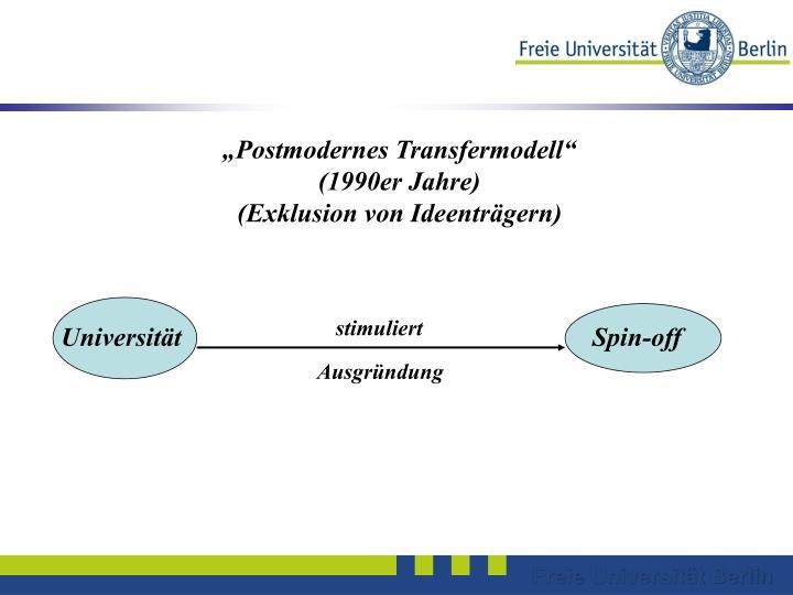 """Postmodernes Transfermodell"""