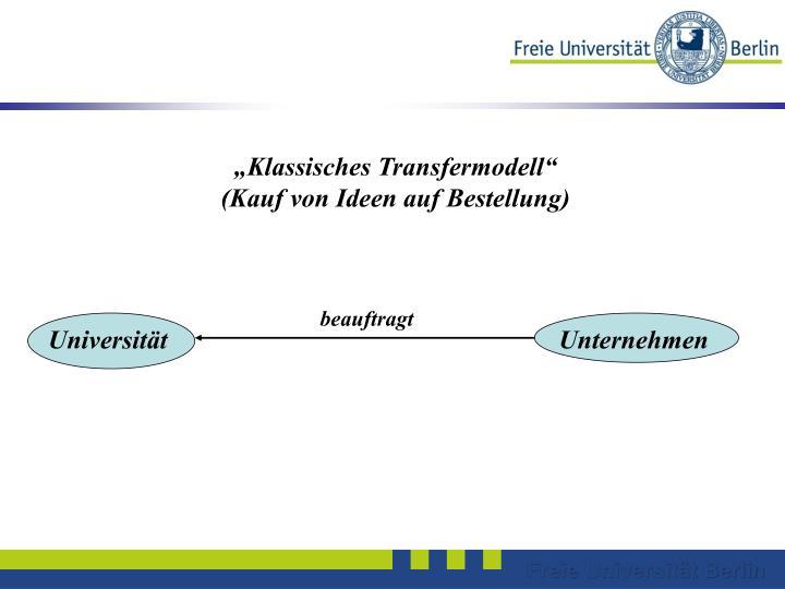 """Klassisches Transfermodell"""