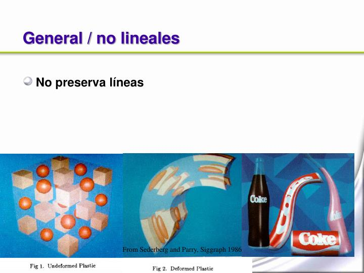 General / no lineales