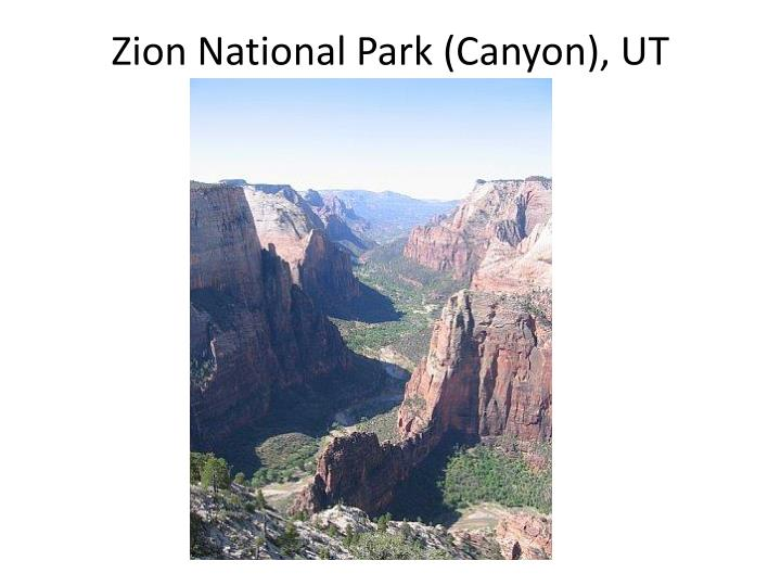 Zion National Park (Canyon), UT