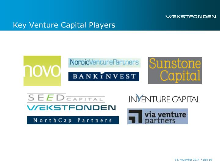 Key Venture Capital Players