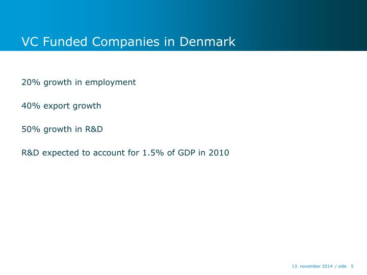 VC Funded Companies in Denmark