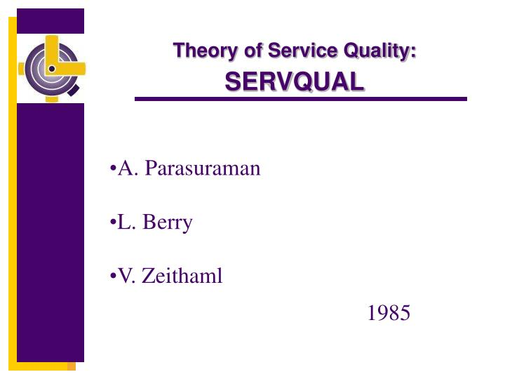 Theory of Service Quality: