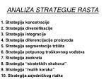 analiza strategije rasta