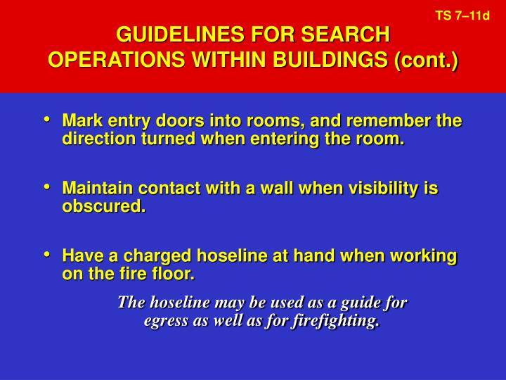 GUIDELINES FOR SEARCH