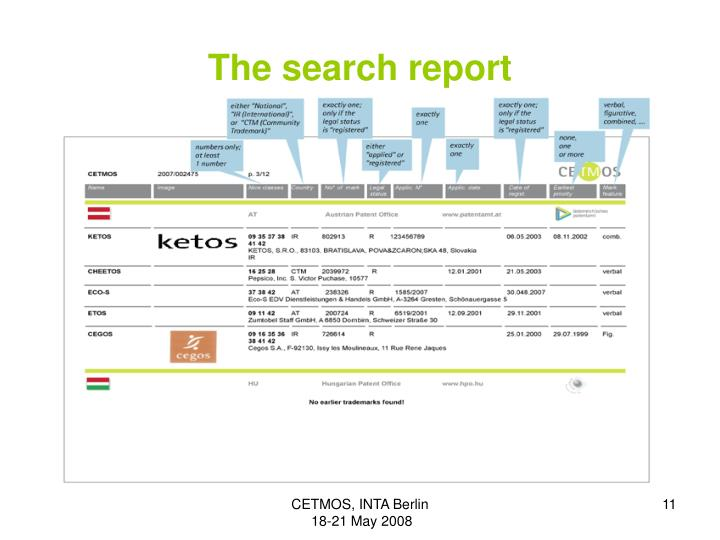 The search report