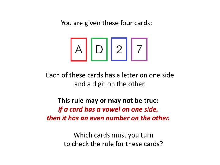 You are given these four cards: