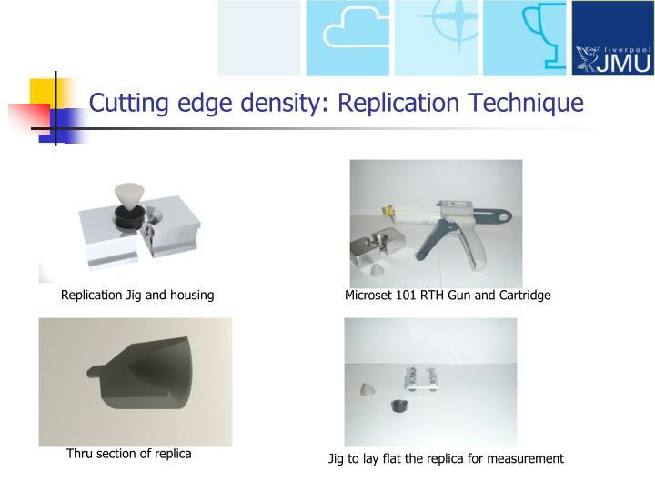 Cutting edge density: Replication Technique