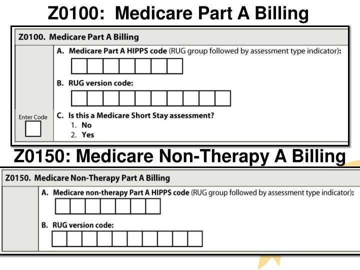 Z0100:  Medicare Part A Billing