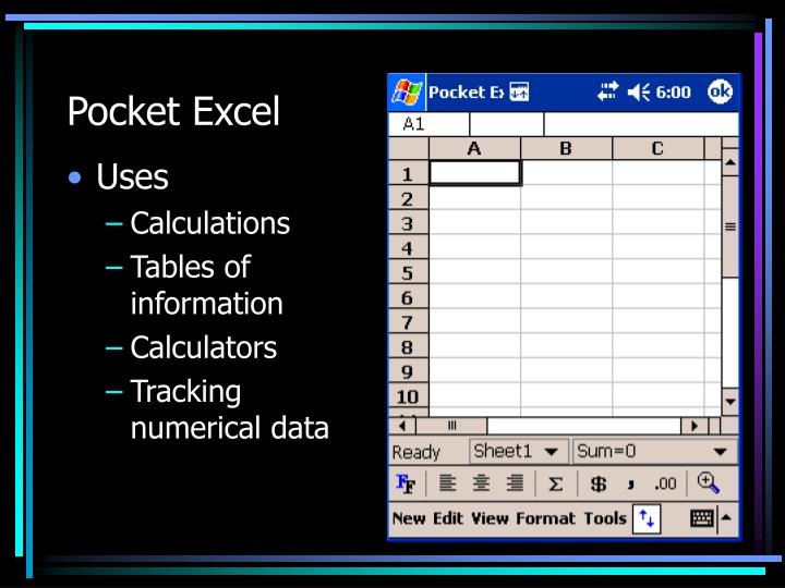 Pocket Excel