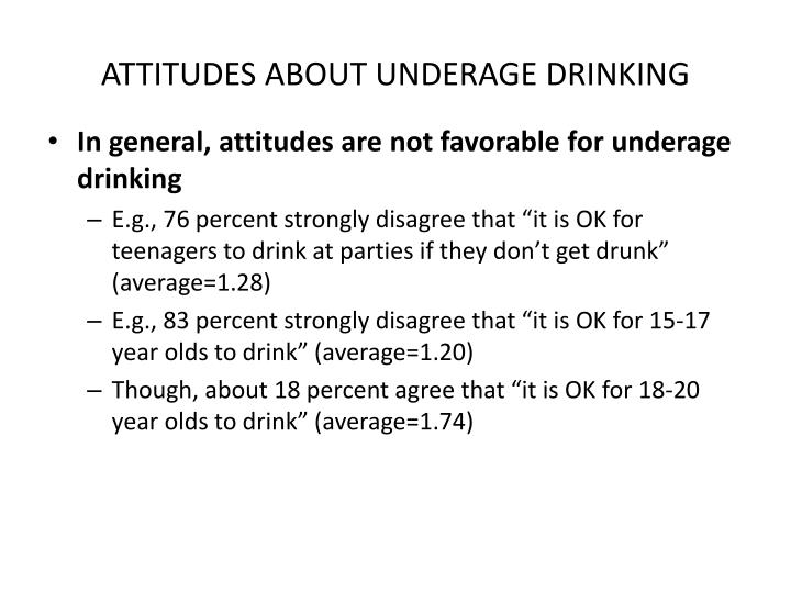 ATTITUDES ABOUT UNDERAGE DRINKING