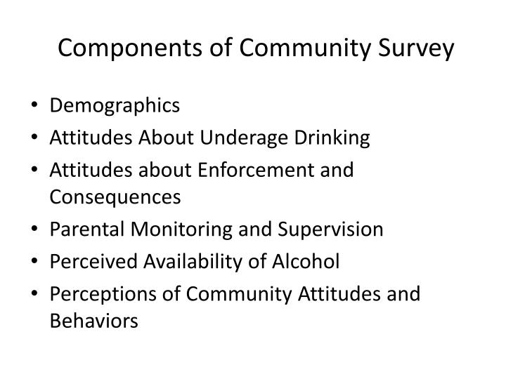 Components of community survey