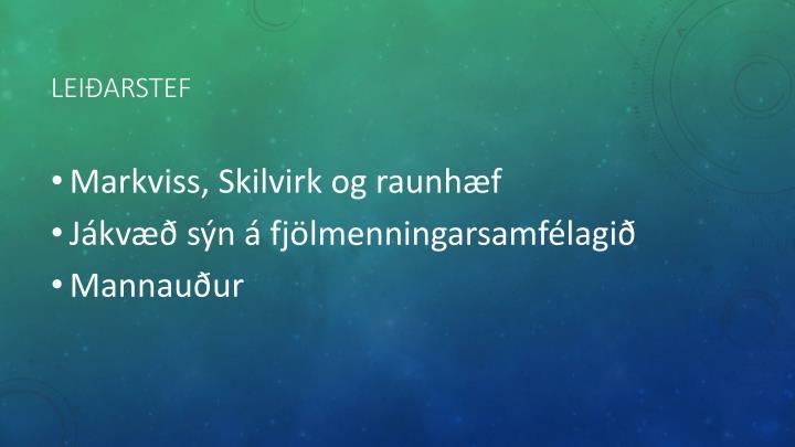 Leiðarstef