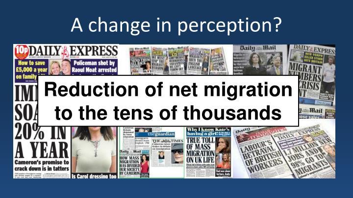 A change in perception?