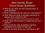 new faculty study focus group questions