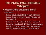 new faculty study methods participants