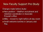 new faculty support pre study1