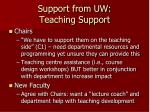 support from uw teaching support
