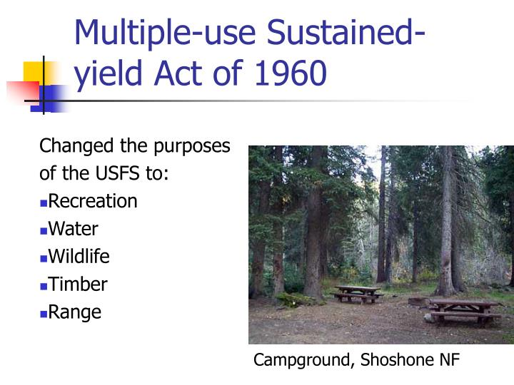 Multiple-use Sustained-yield Act of 1960