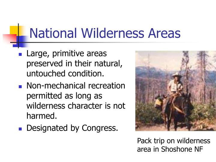 National Wilderness Areas
