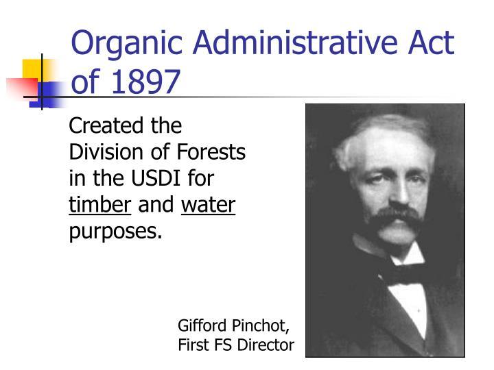 Organic Administrative Act