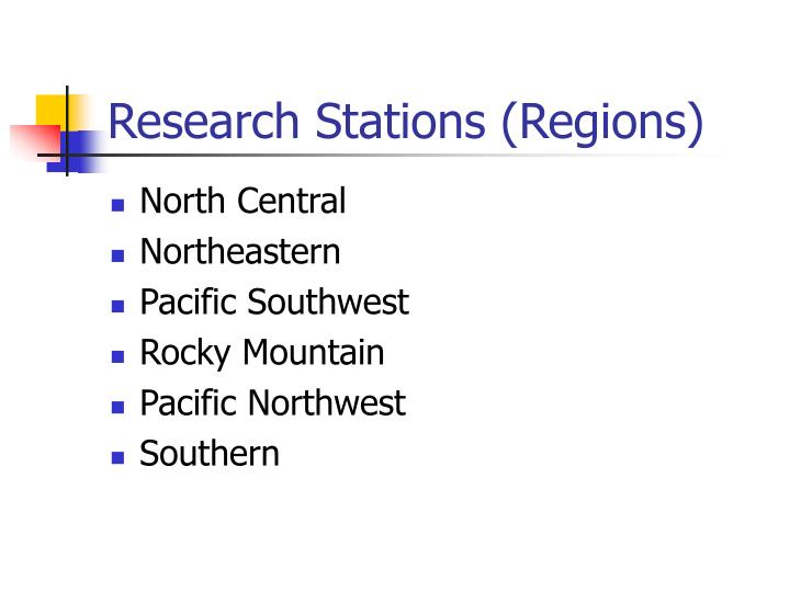 Research Stations (Regions)