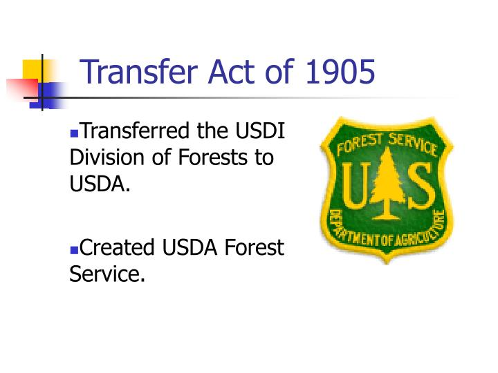 Transfer Act of 1905
