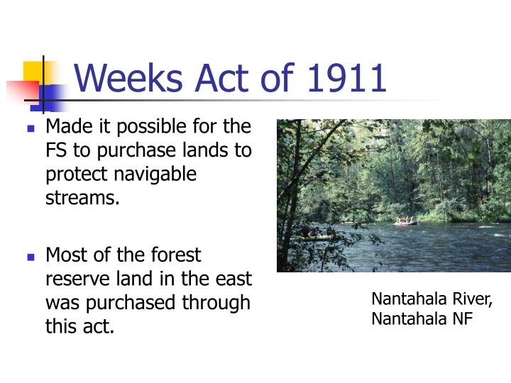 Weeks Act of 1911