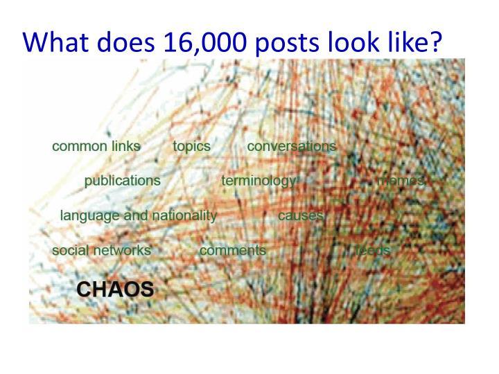 16000 Posts