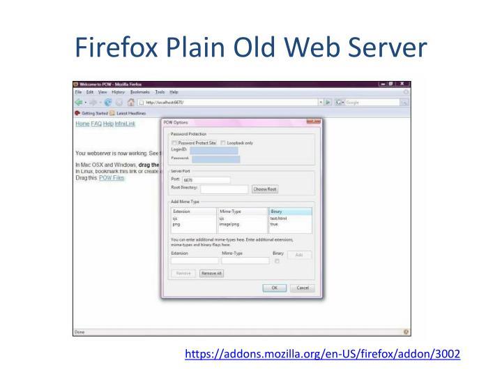 Firefox Plain Old Web Server