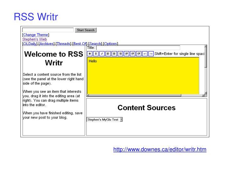 RSS Writr