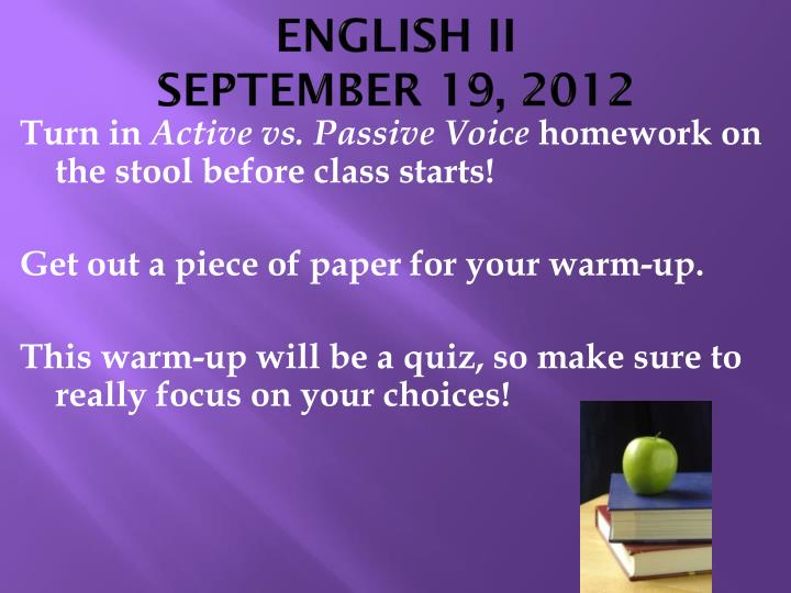 English ii september 19 2012