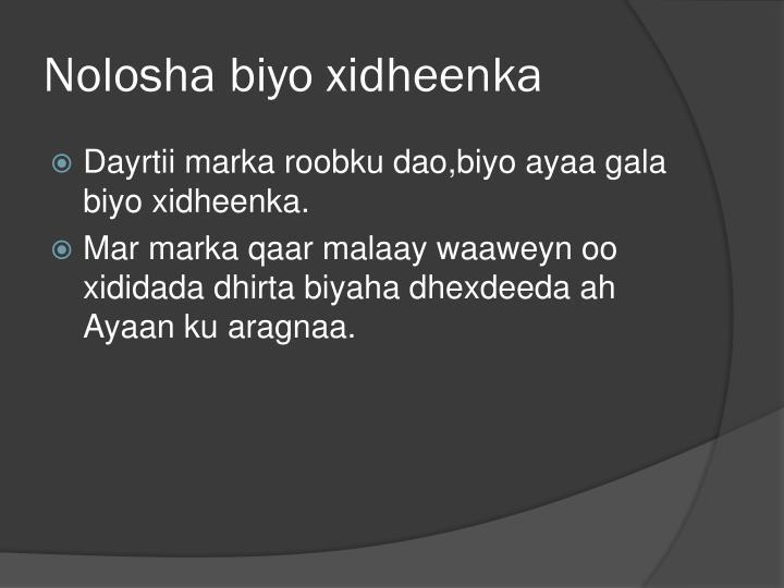 Nolosha biyo xidheenka