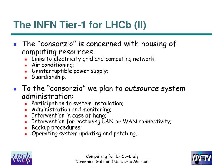The INFN Tier-1 for LHCb (II)