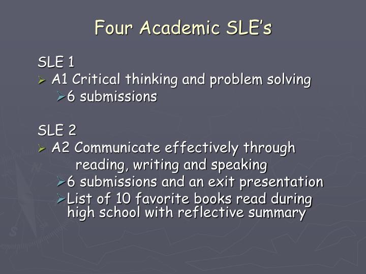 Four Academic SLE's