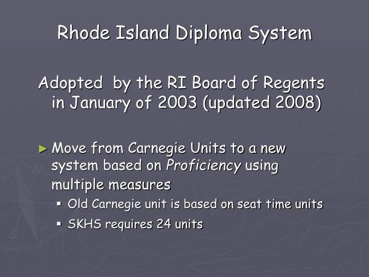 Rhode Island Diploma System