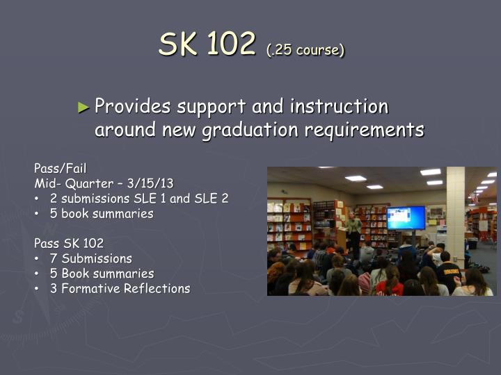 Provides support and instruction around new graduation requirements