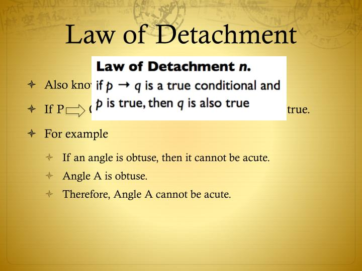 Law of Detachment
