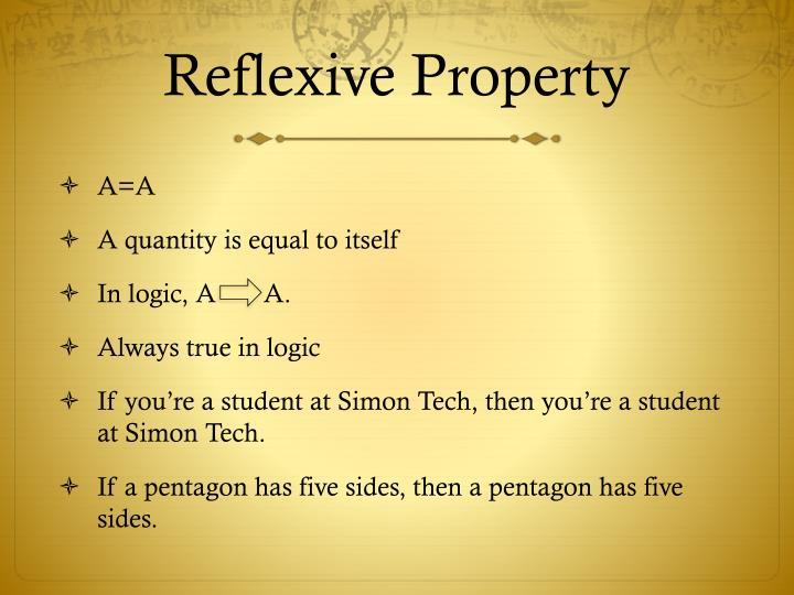 Reflexive Property