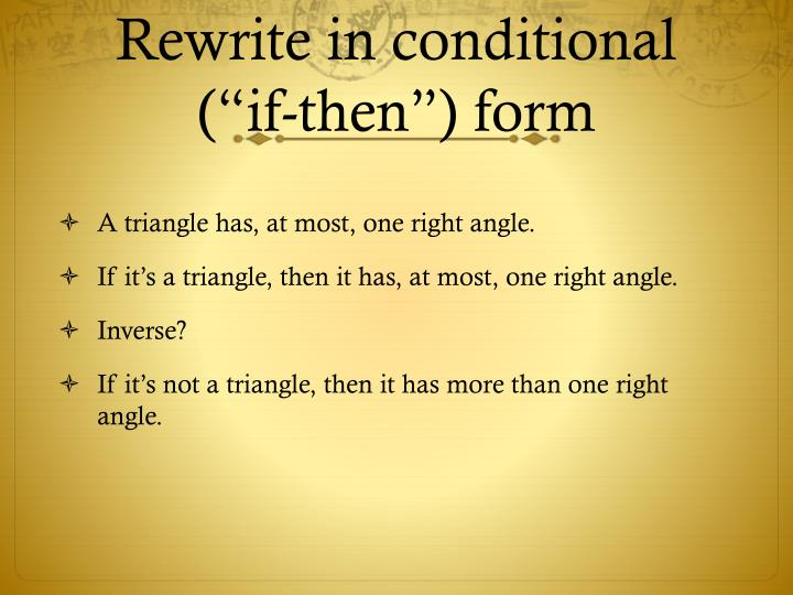 Rewrite in conditional
