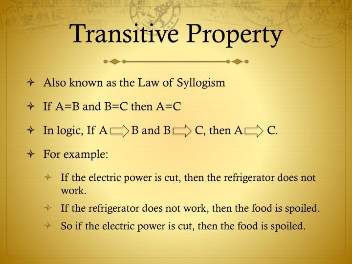 Transitive Property