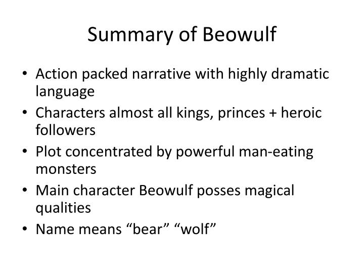 Summary of Beowulf