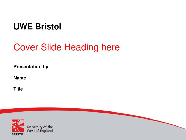 Uwe bristol cover slide heading here
